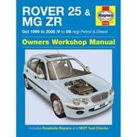 Haynes Manual Rover 25 MGZR 1999-06 1.1 1.4 1.6 1.8 Petrol 2.0 TD
